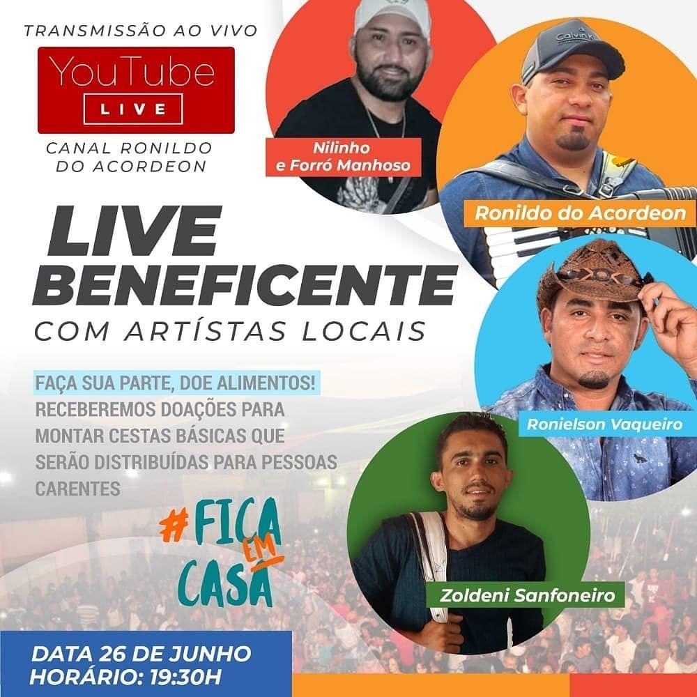 Dia 26/06/2020, Live músicos de Capitão Gervásio Oliveira, com Nilinho & Forró Manhoso, Ronildo do Acordeom, Zoldeni Sanfoneiro, Ronielson Vaqueiro.