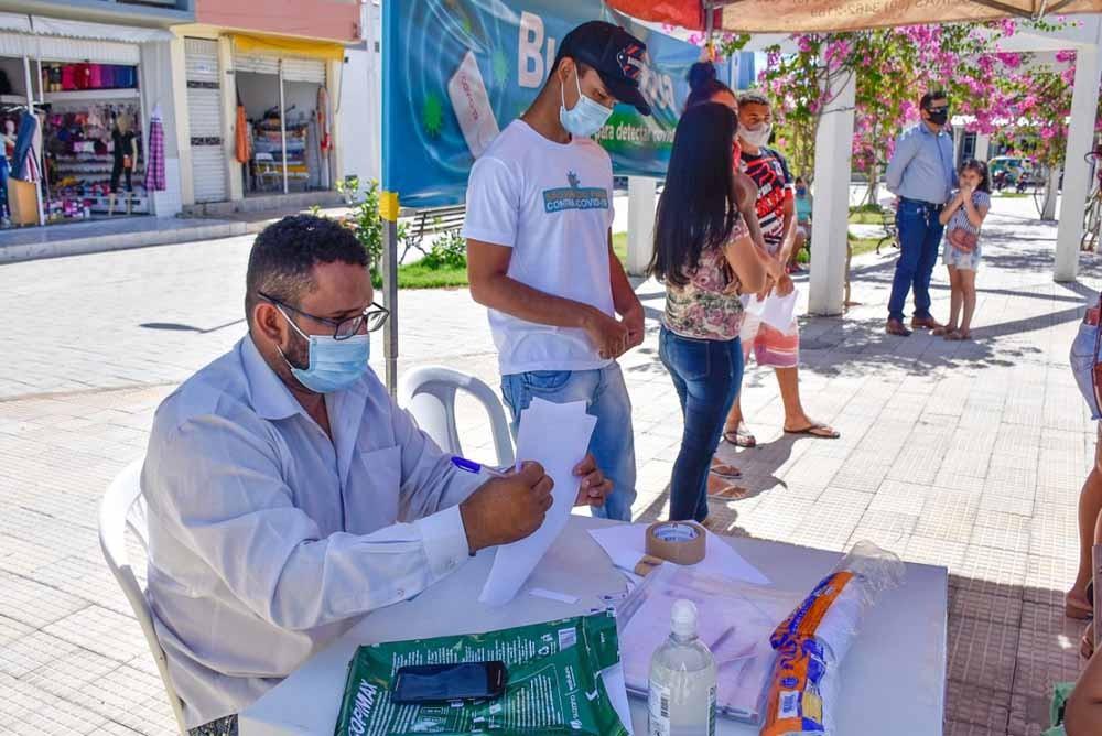 Em São João do Piauí Saúde realizou mais de 200 testes no Busca Ativa Itinerante