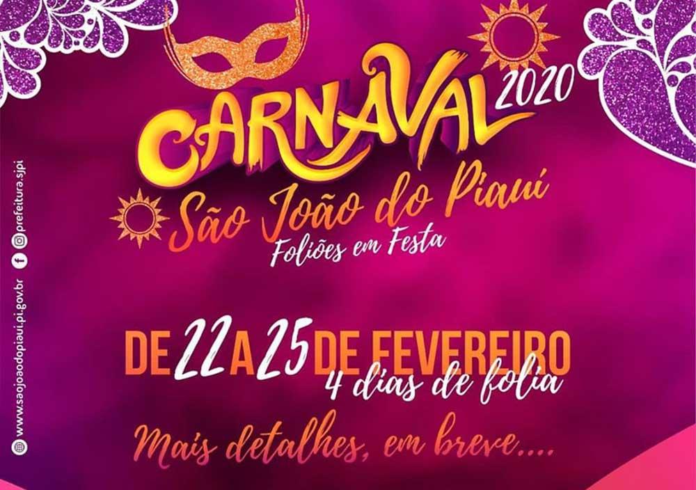 O Carnaval 2020 em São João do Piauí contará só com os blocos de rua